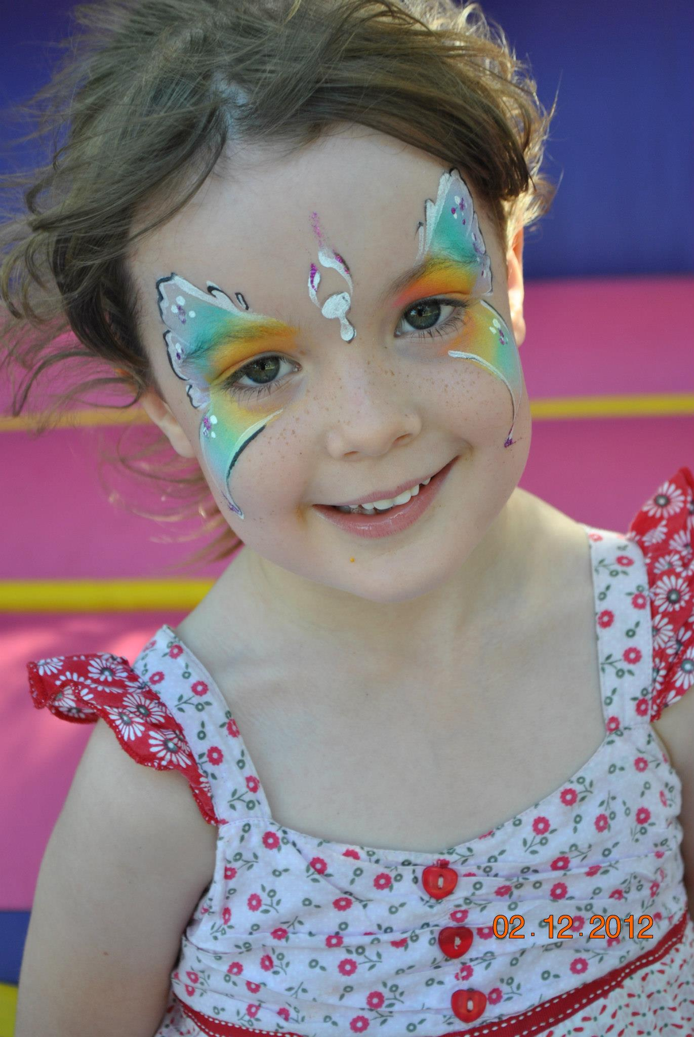 butterfly face paint party gold coast