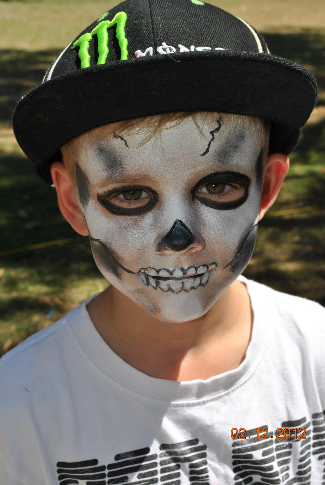 skull face paint party gold coast