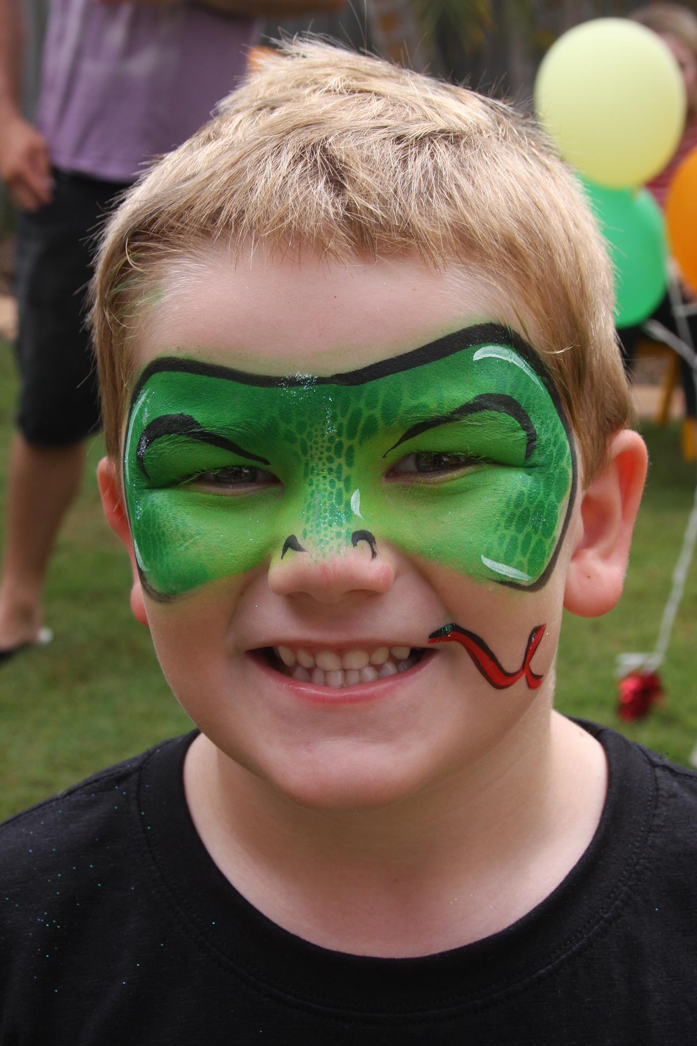 part face paint boy snake gold coast